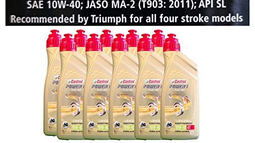 Castrol Power 1 Racing 4T 10W-40 motorolie 10x1 liter Specificaties API SJ JASO MA2