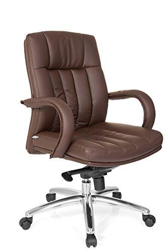 HJH Office bureaustoel, directeursstoel XXL F 400, zwart kunstleer. G 100 bruin