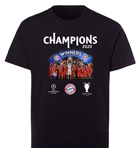 Meisterschaft T-Shirt Triple 2020 Bayern MÜNCHEN Champions of Europe + Sticker München Forever, Tshirt, FCB, Pokalsieg championsleague (M)