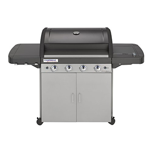 Campingaz Gas BBQ 4 Series Classic LS, 4+1 Burner Stainless Steel Gas Barbecue, Large Gas Grill with Side Burner, Stamped Steel Grid & Griddle