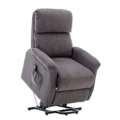 BONZY Classic Power Lift Chair Soft and Warm Fabric with Remote Control for...