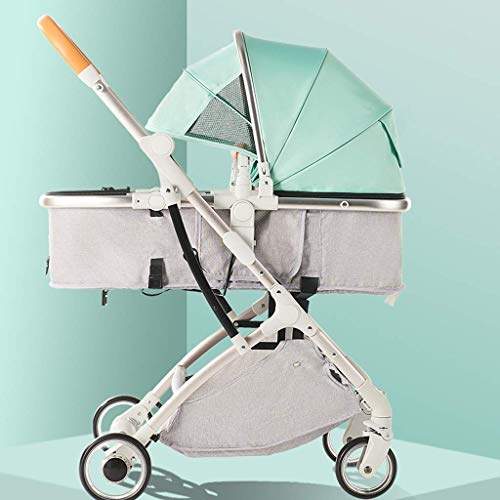 Best Review Of Baby Stroller,Foldable Anti-Shock High View Carriage,Foldable Pram with 5-Point H...