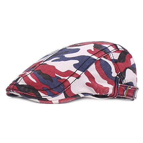Baskenmuts mannen Camouflage Cotton Flatcap Ivy Gatsby Ballon hoed voor badmode, vissen en wandelen Perfect voor buitenactiviteiten