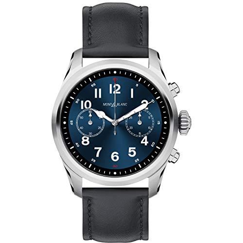 Watch Montblanc Summit 2 Smartwatch 119440 Stainless Steel Black Leather