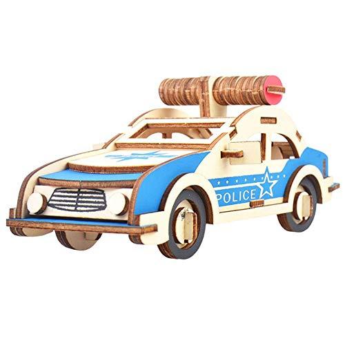 Nikgic. 3D Polizeiauto Puzzlespiele Zum Erwachsene Kinder Hölzern Puzzles Spaß pädagogisches Geschenk Zum Jungen Mädchen Geburtstag Party Festival Haus Dekoration
