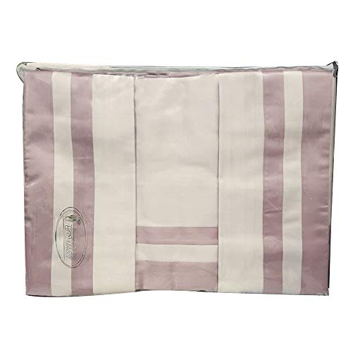 Equart Completo Letto Matrimoniale in raso di cotone Rosa Antico - 30318
