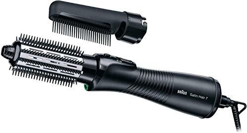Braun Satin Hair 7 AS720 - Cepillo de pelo moldeador con tecnología iónica, rizador de pelo que seca peina y da brillo, color negro