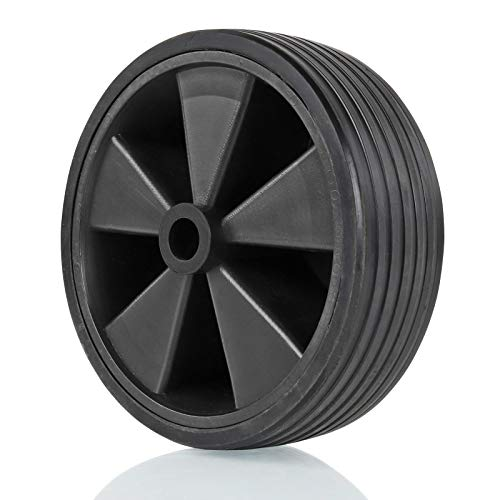 deiwo Stützrad Ersatzrad, Kunststoff-Felge, Vollgummi-Reifen, 220x70mm