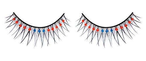 Diamante faux cils (bleu et rouge 08)