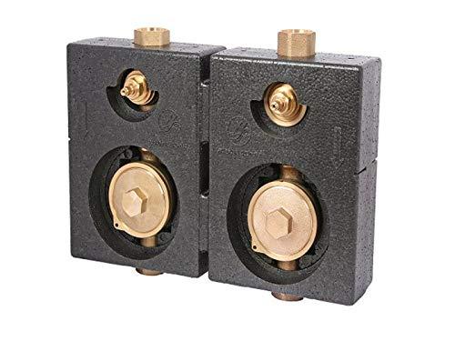 Schlösser/Schütz Montageblock DUO UP für Wasserzähler Unterputzmontage