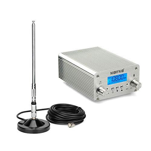 FM Transmitter for Church,15W FM Broadcast Transmitter Radio Stereo Station 87~108MHz,FM Transmitter for Parking Lot Drive-in Church Supermarket School+TNC Antenna
