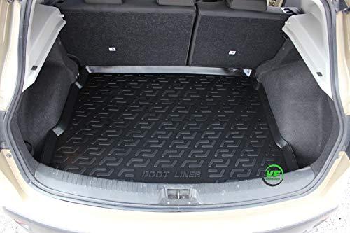 J&J AUTOMOTIVE Premium Antirutsch Gummi-Kofferraumwanne für alle Nissan Qashqai J10 2007-2013