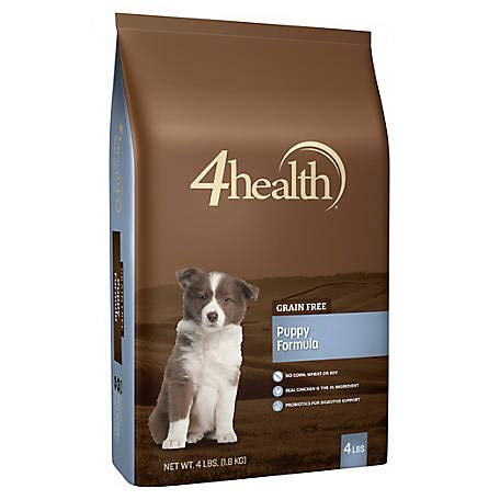 4health Tractor Supply Company Grain Free Puppy Formula Dog Food, Dry, 4 lb. Bag