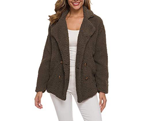 Autumn and Winter hot Models Lamb Wool Thick Women's Sweater Lamb Wool Coat Women New Tops Brown