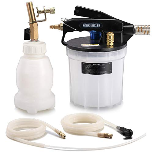 FOUR UNCLES 2L Vacuum Brake Bleeder Air Brake Bleeder Kit with 2L Brake Fluid Extractor and 1L Refilling Bottle