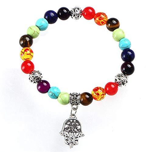 Pulsera Charms Yoga Lotus 7 Chakra Beads Pulsera De Piedra para Hombres Mujeres Pulseras De Equilibrio Curativas Hechas A Mano De Moda Regalos De Joyería Fdy382A7Hasmahan