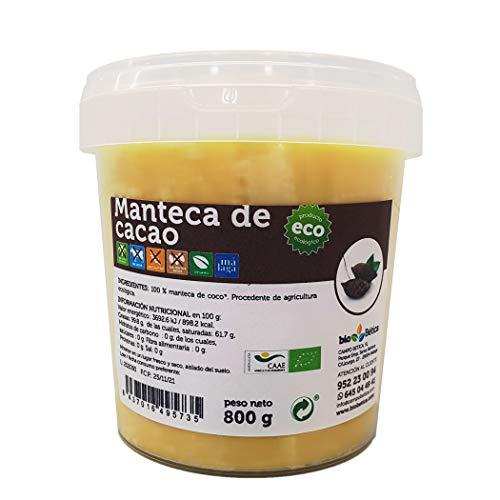 Manteca de cacao 100% BIO 800 g. Uso alimenticio y cosmético. 100% VEGANO - SIN FRUTOS SECOS - SIN GLUTEN - SIN LECHE
