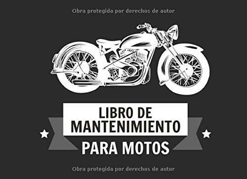 Libro de Mantenimiento para Motos: Registro de mantenimiento y reparación de motocicletas – 20,96 cm x…