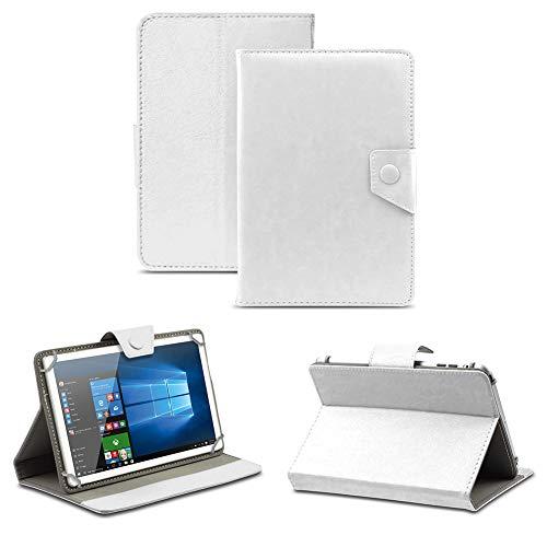 NAUC Universal Tasche Schutz Hülle Tablet Schutzhülle Tab Hülle Cover Bag Etui 10 Zoll, Tablet Modell für:Toshiba Encore 2 10.1, Farben:Weiss mit Magnetverschluss
