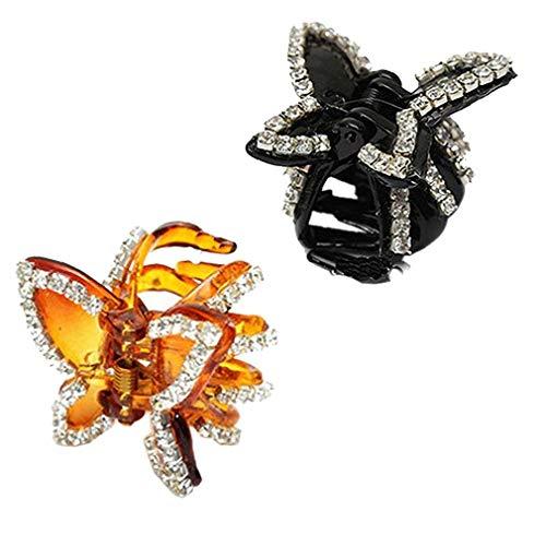 Mini Garra Del Pelo De La Mariposa Apretón De La Pinza Chica Del...