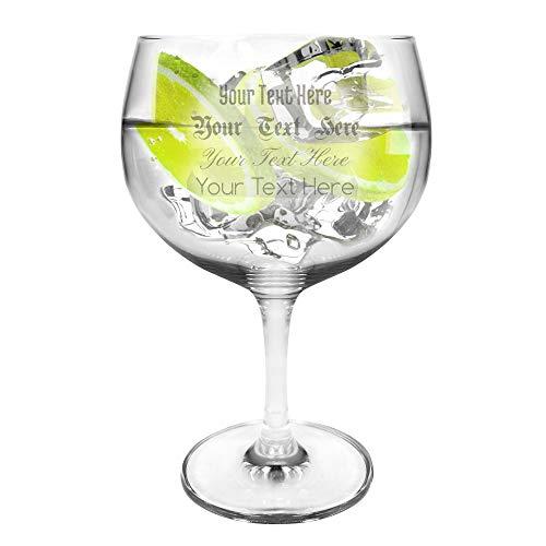 Ginsanity TRITAN Crystal Extra groß Personalisiert [696 ml] Copa Glas Gin und Tonic [G&T] Balloon Gläser Für Cocktails und Geschenkbox