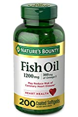 Contains (1) bottle of 200 rapid release 1200 milligram fish oil supplement soft gels, each containing 360 milligram of Omega 3. Nature's Bounty Fish Oil 1200 milligram contains EPA and DHA Quality, consistency and scientific research has resulted in...