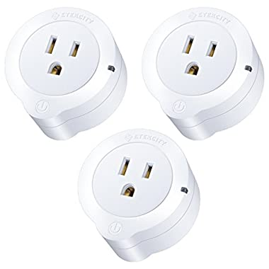 Etekcity 3 Pack Voltson Wi-Fi Smart Plug Mini Outlet with Energy Monitoring, No Hub Required, ETL Listed, White, Works with Alexa, Google Assistant and IFTTT