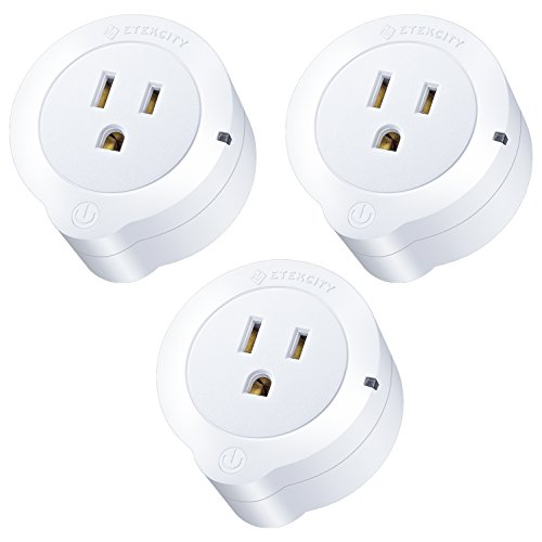 Etekcity Smart Plug, Works with Alexa, Google Home and IFTTT, WiFi Energy Monitoring Mini Outlet with Timer (3-Pack), No Hub Required, ETL Listed, White,  with Lifetime Support