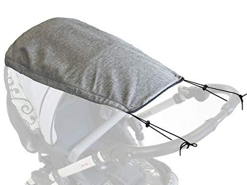 Universales Sonnensegel Sonneschutz Sonnendach für Kinderwagen flexibles Sonnenverdeck für Baby Buggy mit modernem muster Len [105]