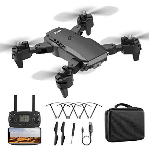 MOZUN Drone K2 Dotato di Telecamera 4K Ad Alta Definizione, Drone con Telecomando di Posizionamento del Flusso Ottico Pieghevole (3 Batterie), modalità Senza Testa, Ritorno con Un Solo Tasto