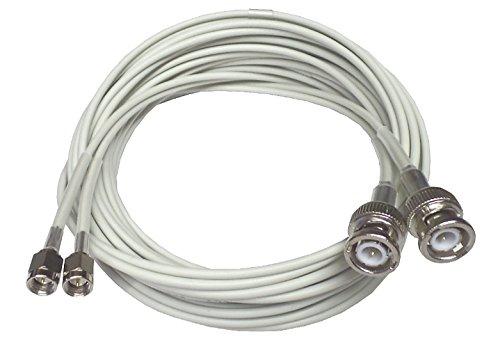 LowLoss 5m Twin Kabel für Novero Dabendorf LTE-MIMO & UMTS-Antenne 800, 1800, 2100, 2600, in freundlichem hellgrau