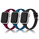 PARMPH Sport Armband Kompatibel mit Apple Watch Armband 38mm 40mm Frauen Sie, 3 Stück Weiche...