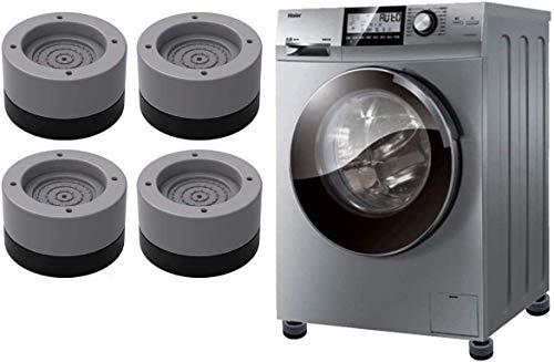Seisso - 4 cuscini universali per lavatrice, piedi stabilizzatore base per piedi, cuscino antiurto, per lavatrici, frigoriferi, macchine da lavaggio e asciugatrice