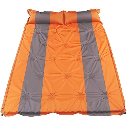 OUYA Esterilla Camping Doble autoinflable Ligero, cómodo colchón de Camping con Almohada, cojín de Camping portátil para Senderismo, montañismo y Aventuras al Aire Libre