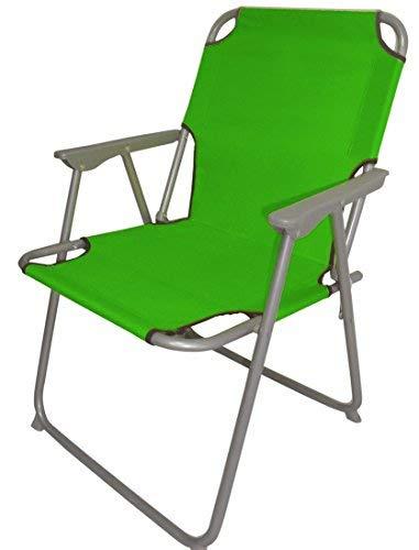Spetebo Piccolo Klappstuhl in grün - praktisch und bequem - Ideal für unterwegs!