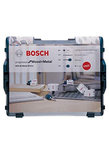 Bosch Professional 11 tlg. Lochsäge Progressor for Wood & Metal Set (in L-Boxx, Zubehör Bohrmaschine)