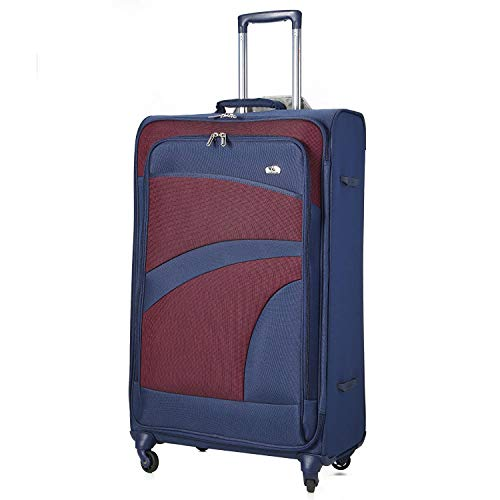 Aerolite Extra Large 32' Super Lightweight 4 Wheel Spinner Check-in Hold Luggage Suitcase Travel Trolley Case Navy Blue Plum Purple