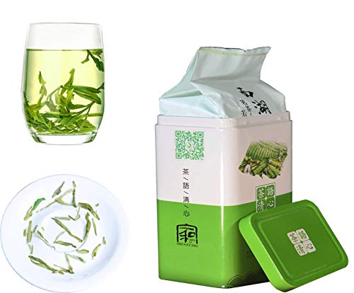 JQ Xihu Longjing Green Tea - 2020 Spring Tea-Authentic Hangzhou Origin – West Lake Dragon Well Loose Leaf - (Second Grade - 5.3 oz/1 bag) Natural Nothing Add