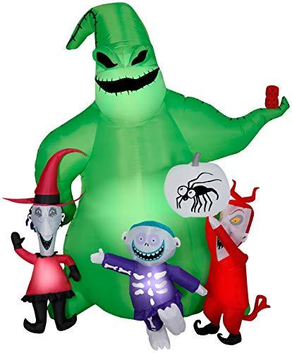 Gemmy Halloween Inflatable 7' Oogie Boogie Nightmare Before Christmas Scene | Airblown Inflatable