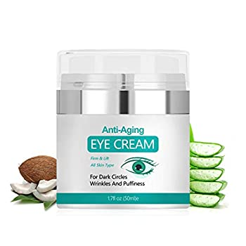 Eye Cream Under Eye Cream to Reduce Puffiness and Dark Circles Anti Aging Eye Cream Reduce Fine Lines and Wrinkles 1.7 Ounces…