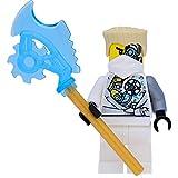 LEGO Ninjago - Figura de Zane (techno Robe con daños de combate) - Reforzada con hoja tecno