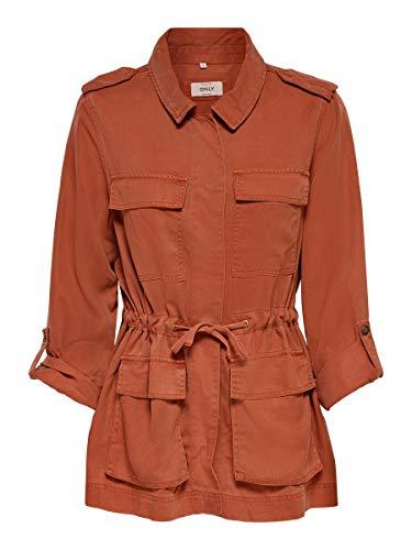 Only Chaqueta ONLKENYA Life Utility Jacket OTW para Mujer Mujer Color: Hot Sauce Talla: XL