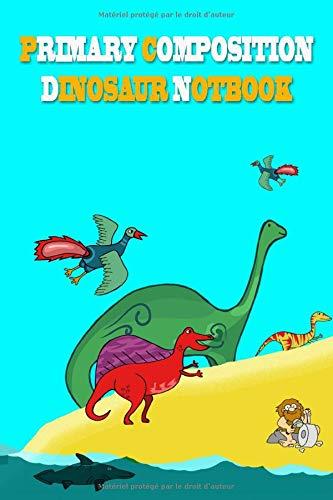 primary composition dinosaur notbook kids: DayPlanner_6x9_120_bleed Monthly planner Agenda Schedule PDF Books