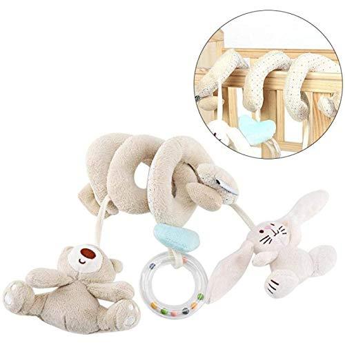 Juguetes de Cochecito,Juguetes Colgantes de Actividad en Espiral de Felpa Suave para Bebé,Cochecito de Niño con Asiento de Carro y Timbre,para Cochecito, Asiento de Coche o Trona