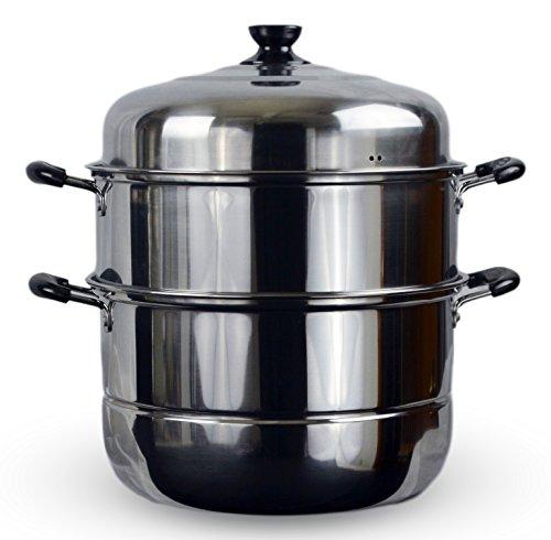 3 Tier Stainless Steel Steamer Cookware Pot (14')