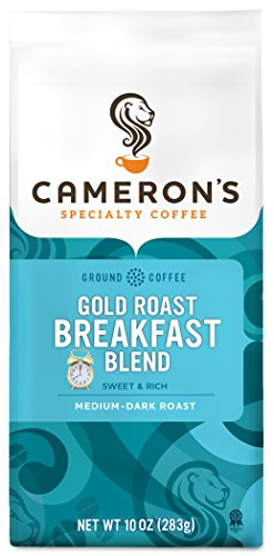 Cameron's Coffee Roasted Ground Coffee Bag, Gold Roast Breakfast Blend, 10 Ounce