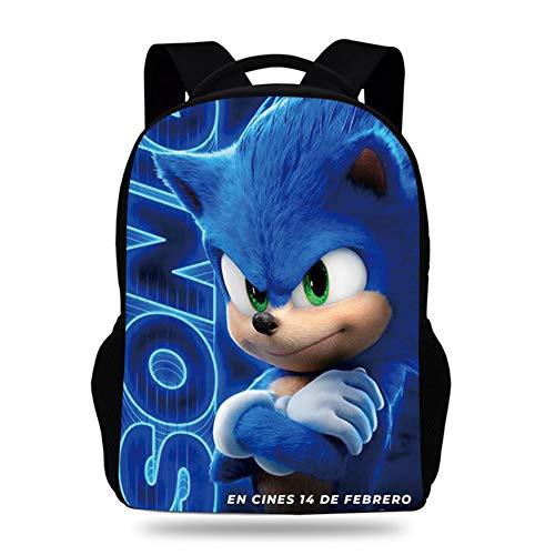 Sonic The Hedgehog 3D Laptop Backpack, Business Travel Backpack Gift for Men Women with USB Charging Port Lock, Slim Durable Water Resistant College School Bookbag Computer Bag,1