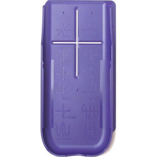 EZ Graphing Purple Hard Slide Cover (See Description for Details) for TI 84 Plus, TI 84 Plus C Silver Edition, TI 89 Titanium (not for TI 84 Plus CE)
