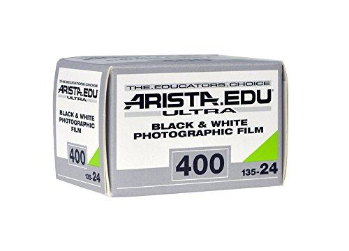 Arista EDU Ultra 400 ISO Black & White Photographic Film, 35mm, 24 exposure