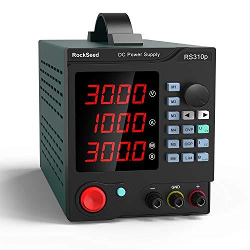 Labornetzgerät, RockSeed 0-30V / 0-5A, Regelbar, Labornetzgerät DC mit 4-stelliger LED-Anzeige, Stabilisiertes Schaltnetzteil, Strommessgerät, Überlast- & Kurzschlussfest 305p